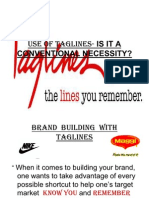 Use of Taglines- Is It a Conventional Necessity