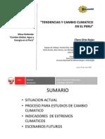 Tendencias y Cambio Climatico en El Peru