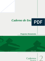 Monumenta - Caderno de Encargos
