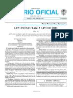 Ley 1475 de 2011