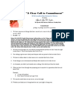 A Clear Call to Commitment Notes - Apostle Carl D. Lykes, Sr