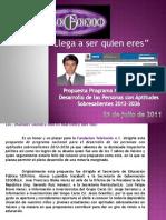 Propuesta al Lic. Manuel Gómez Morín Martínez del Río