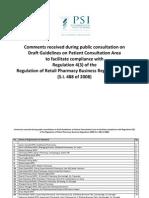 Public Consultation on Patient Consultation Area