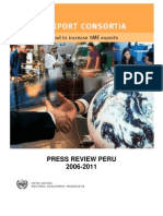 Press Review Peru 2011 UNIDO Export and Origin Consortios