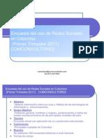 Encuesta Del Uso de Redes Sociales en Colombia Julio 2011