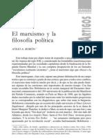 El Marxismo y la filosofía política