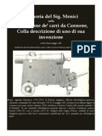 MENICI Domenico On coastal gun-carriage 1809