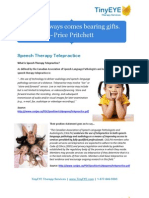 Information on Speech Therapy Telepractice