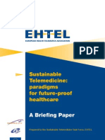 EHTEL Briefing Paper Sustainable Telemedicine