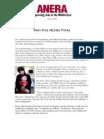 Pain Free Needle Pricks