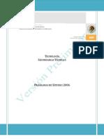 Programa de la Asignatura de Tecnologìa en Secundarias Tècnicas (Versiòn preliminar)