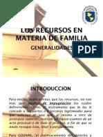 Los Recursos en Materia de Familia