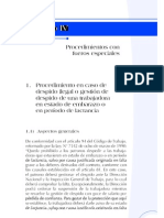 Procedimiento en caso de despido ilegal o gestión de despido de trabajadora embarazada o en periodo de lactancia