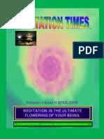 17. Meditation Times April 2008