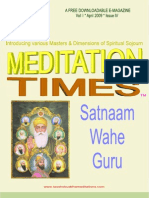 Meditation Times April 2009