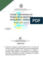 SAÚDE E SEGURANÇA DO TRABALHO NA INDÚSTRIA MADEIREIRA- serrarias