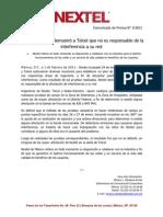 010211 Boletín Nextel Pruebas Telcel