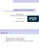 A Stochastic Model for Order Book Dynamics