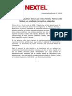 090311 Boletín Nextel IXC denuncias vs Telcel