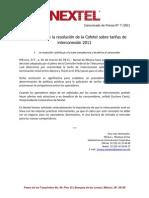 160311 Boletín Nextel Reconoce IXC Cofetel