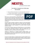 030511 Boletín Nextel tarifa IXC Nextel