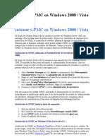 Instalar GPMC en Windows 2008