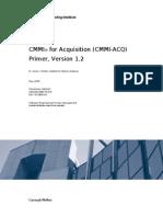 CMMI for Acquisition ACQ Primer, Version 1.2