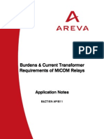 Areva Current Transformer Application Guide