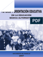 TUTORÍA Y ORIENTACIÓN EDUCATIVA Basica Alternativa