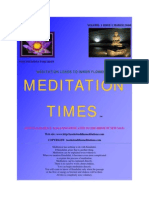 Meditation Times March 2008