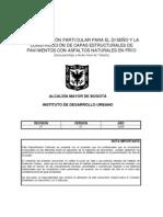 Especificacion Idu Asfalto Natural