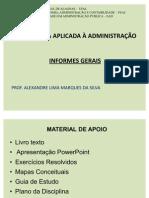 Aula Presencial - Estatística