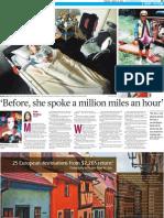 'Before, she spoke a million miles an hour'