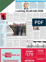 Carry on cutting, Ryall tells DHB