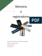 computação memoria e registradores