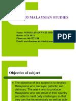 Mpw 2133 Malaysia Studies-Intro