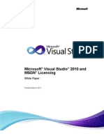 Visual Studio 2010 and MSDN Licensing Whitepaper - Mar-2011
