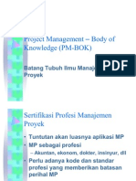01 Project Management – Body of Knowledge (PM-BOK