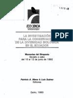 08. Los inventarios botánicos en el Ecuador... David A. Neil, Benjamin Ollgaard