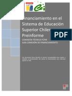 PreInforme - Financiamiento en el Sistema de Educación Superior Chileno