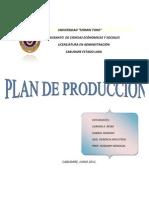 Plan de Produccion (Crema de Leche)