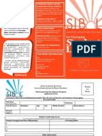 Sibol Brochure and Application Form 2011