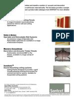 Sontext Acoustic Panels  Catalogue
