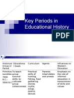 Key Periods in Educational History
