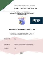 Informe Elaboracion de Yogur Batido