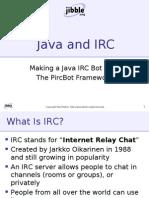 Making a Java IRC Bot With The PircBot Framework