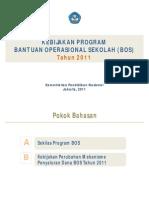 Kebijakan Program BOS Tahun 2011