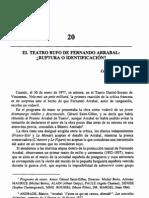 El Teatro Bufo de Fernando Arrabal. Ruptura o Identificación