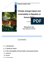 Climate Change Impact and Vulnerability in Republic of Korea (ROK)
