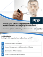 Profiling for SAP - Compliance Management, Access Control and Segregation of Duties